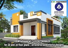 Two Bedroom House Plans for Family, Residential Home Designs, Floor, Living Room House Front Wall Design, House Outer Design, Single Floor House Design, Modern Small House Design, House Outside Design, Front Design, 2bhk House Plan, Model House Plan, Indian House Plans