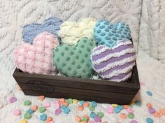 Chenille Candy Hearts ~ Bowl Fillers ~ Ornies ~ Valentine's Day ~ Shabby Chic