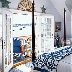 100 Comfy Cottage Rooms | Beach Hues | CoastalLiving.com