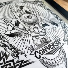 Ink drawing I did for Converse awhile back. #tbt wesley eggbrecht