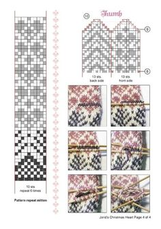 """Photo from album """"Pirstines"""" on Yandex. Knitting Charts, Knitting Stitches, Knitting Socks, Knitting Patterns, Knitted Mittens Pattern, Knit Mittens, Knitted Gloves, Tapestry Crochet, Knit Crochet"""