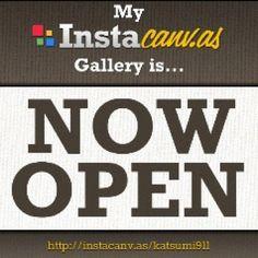 流行りの #instacanvas オープンしちゃった。 買って下さいね。(^^ Thank you for requesting guys! Its OPEN now!
