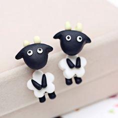 Aliexpress.com : Buy 1 Pair cute animal cow earrings for women ...