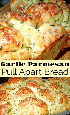 Garlic-Parmesan Cheese Pull Apart Bread [Using Rhodes Frozen Yeast Rolls] – Gesundes Abendessen, Vegetarische Rezepte, Vegane Desserts, Scones, Art Du Pain, Frozen Bread Dough, Yeast Rolls, Bread Rolls, Dinner Rolls Recipe, Galette, Appetizer Recipes, Appetizers
