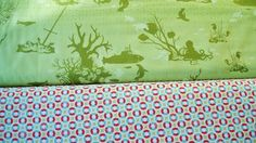 Neptune fabric by Tula Pink in coral and algae