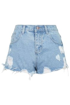 **Kyoto Ripped Denim Shorts by Jovonna