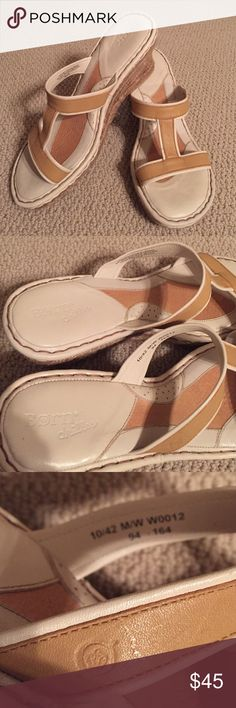 Sandals Tan/cream  espadrille wedge sandals by BORN. Size 10M. Born Shoes Espadrilles