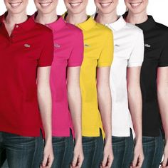 Lacoste Ladies' Pique Polo Shirt – Stretches For a Flattering Fit