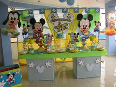 Decoración de Mickey Mouse, bebe, Bocaditos personalizados, Coqueta, tortas,toldos,Sheylla eventos y fiestas Mickey 1st Birthdays, Mickey Mouse 1st Birthday, 1st Birthday Themes, Baby Mickey Mouse, First Birthday Pictures, Baby Boy First Birthday, Mickey Party, 1st Birthday Parties, Mickey Mouse Decorations