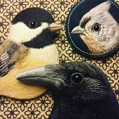 Thank you all for such a big interest in the last few days. Because I received many questions about the raven and I wasn't able to answer all of your comments, I would like to announce that on Monday 6 february about 3 PM CET time (GTM +1) I'll add these three bird brooches to my Etsy shop (link in bio) 🌿 #embroidery #embroideryart #embroiderydesign #handembroidery #raven #chickadee #handmade #needlework #needlefelting #stitching #stitches #needleart #birds #brooches #etsy #etsyshop…