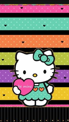 ❤ happy valentine's day ❤ cute walls by me ♡ hello kitty iph Hello Kitty Iphone Wallpaper, Iphone Wallpaper Video, Hello Kitty Backgrounds, Cute Wallpaper For Phone, Cat Valentine, Happy Valentines Day, Flamingo Painting, Hello Kitty Pictures, Hello Kitty Collection