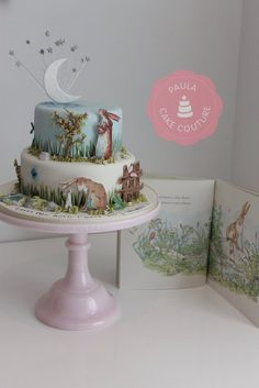'Guess how much a love you' story book cake - fiesta Adivina cuanto te quiero