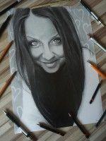 Cartoon woman Ľubomír Frančiak http://portrety-obrazy.sk/ www.facebook.com/portrety.obrazy https://instagram.com/lubomir.franciak/