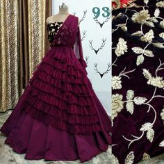 Women's Fashion Outfit With Huge Discount Today! Indian Wedding Gowns, Indian Gowns Dresses, Indian Fashion Dresses, Indian Designer Outfits, Indian Outfits, Indian Weddings, Indian Bridal, Designer Bridal Lehenga, Designer Party Wear Dresses