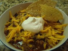 crockpot taco soup (easy, fast and delicious)