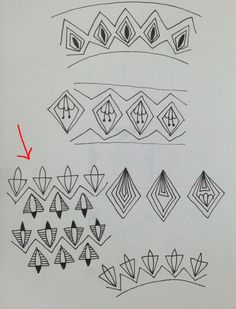 Gyro tangle pattern variations