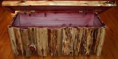 rustic log chest | Details about Amish Rustic Cedar Log Chest Trunk Wooden Blanket Box ...
