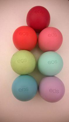 My eos lip balm collection