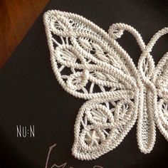 Halloween will come soon and I made a Romanian Point Lace butterfly motif.     * Romanian Point Lace Butterfly *  Materials  DMC Cebelia #40...