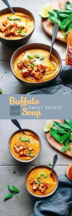 Buffalo Sweet Potato Soup - Full of Plants