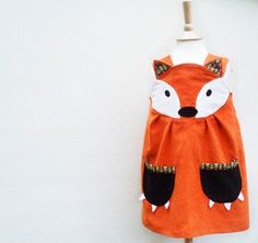 Girls fox dress, from Etsy.. What does the fox say