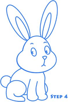 how to draw bugs bunny face easy
