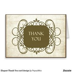 Elegant Thank You card design