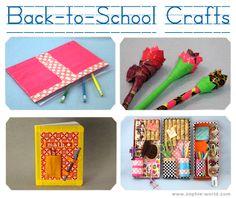 Back-to-School Craft Ideas on sophie-world.com #ducttape #craft #DIY #school