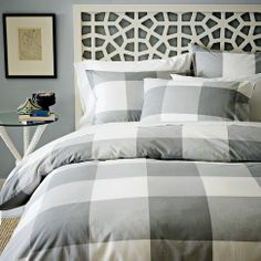 City Gingham Duvet Cover + Shams | west elm