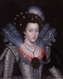 Elizabeth Stuart, Queen of Bohemia - Electress Palatine, grandmother of George ! of Great Britain and Ireland, Prince Elector of Hanover. Her children included Prince Rupert of the Rhine, supporter of Charles I in the English civil war.She was widowed thirty years before her own death, dying soon after her return to England in the reign of her nephew Charles II. She buried in the Henry VII chapel in Westminster Abbey.