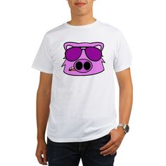 Fly Pig Man Tee  #pigs #animals #characters #hogs #shirts #men