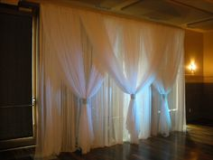 Draped fabric backdrop #wedding #backdrop #photobooth #reception #ceremony #drapery