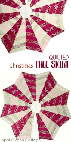 The Quilted Christmas Tree Skirt Pattern Diy Quilted Christmas Tree Skirt, Christmas Tree Base, Christmas Tree Skirts Patterns, Christmas Sewing, Christmas Tree Ornaments, Christmas Ideas, Christmas Quilting, Christmas Crafts, Christmas Decorations