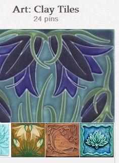 Art: Clay Tiles by Sandy Meadors http://pinterest.com/syrylyn/art-clay-tiles/