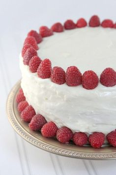 Raspberry Cheesecake Cake #recipe