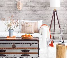 LOVE that back wall (and white wash application). Have always wanted to re-purpose old barn wood.