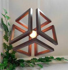 Wood Pendant Light / Wood Lamp / Celing light / Modern Chandelier / Wood Light Fixture / Hanging Lam - All For Decoration Chandelier Design, Wooden Chandelier, Ceiling Light Design, Wooden Lamp, Lamp Design, Room Lamp, Desk Lamp, Plug In Pendant Light, Pendant Lamps