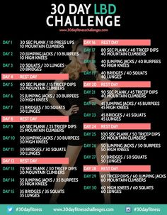 30 Day Little Black Dress Challenge Workout Chart __Love fitness? Check out our website!
