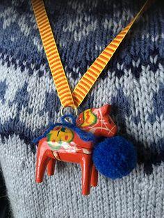 Traditionell dalahäst, närmast hjärtat!