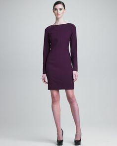 c0d4e3c82b4 Yves Saint Laurent Long-Sleeve Dress · Neiman Marcus ...
