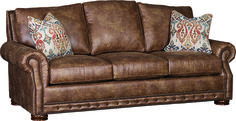 Mayos 2900L Sofa in Stallone Rawhide Mayo Leather Sofas