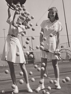 LANDSHOFF – Hermann Landshoff, Tennis balls' with models Wanda Delafield and Peggy Lloyd, ca. Landshoff, Tennis balls' with models Wanda Delafield and Peggy Lloyd, ca. Tennis Outfits, Tennis Dress, Tennis Clothes, Golf Outfit, Nike Clothes, Tennis Party, Le Tennis, Shoes Tennis, Tennis Racket