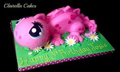 Fifi The Pink Dinosaur Cake by Clairella Cakes