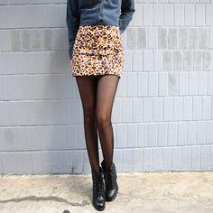 Coolhada - Leopard Mini Skirt $108.00 http://www.shop.secretenvy.com/Coolhada-Leopard-Mini-Skirt-20133401.htm