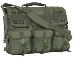 tactical laptop field briefcase in olive drab $66.31 constructed of rugged tactical polyester. 1 main compartment with numerous organizer pockets. separate padded computer case pocket with removable padded sleeve. outside document pocket. 3 removable accessory pockets. deluxe grip handle and removable, padded shoulder strap. 17.5 x 14 x 5 inches. solid army olive drab color. Back to School Laptop Bags