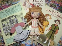 Crochet inspiration from our paper doll books! #paperdolls #crochet