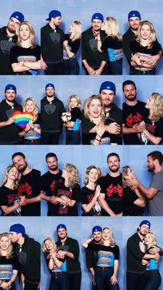 Stephen Amell and Emily Bett Richards Stephen Amell Arrow, Arrow Oliver, The Cw Shows, Dc Tv Shows, Batwoman, Arrow Tv Series, Arrow Serie, Dc Comics, Arrow Memes