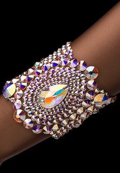 Bettina Rhinestone Bracelet HJ307 CAB - Rhinestone Jewelry