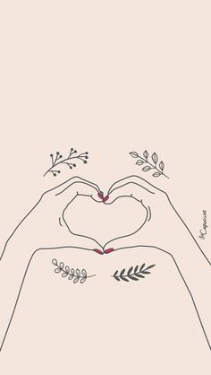 Wallpaper – Hands in Heart – Iphone Wallpaper Vsco, Tumblr Wallpaper, Cute Wallpaper Backgrounds, Cute Wallpapers, Illustration Main, Holding Hands Drawing, Maine, Wall Paper Phone, How To Draw Hands