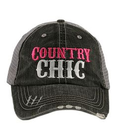 77d04db4fdd Look what I found on  zulily! Gray  Country Chic  Baseball Cap
